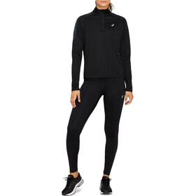 asics Icon Sweat-shirt à manches longues demi-zip Femme, performance black/carrier grey